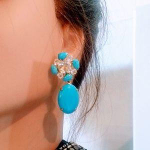 Bounkit Jewelry - Bounkit convertible Turquoise Quartz earrings NWOT